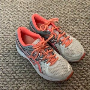 ASICS coral sneakers